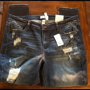 Lane Bryant distressed skinny jean